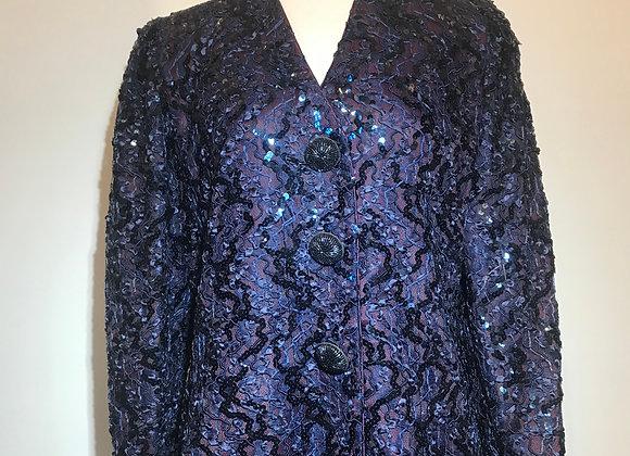 Purple/Blue Sequin Ribbon Jacket