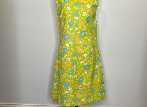 1960s multicolored dress