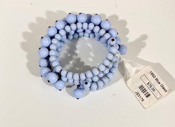 1950s Blue Glass bracelet