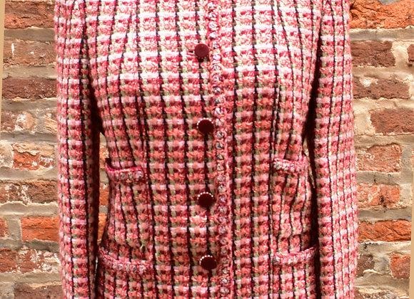 Chanel Red & Pink Tweed Jacket