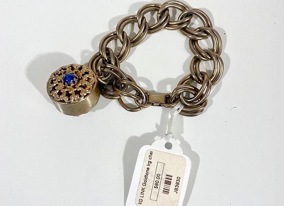 Large link gold tone bracelet