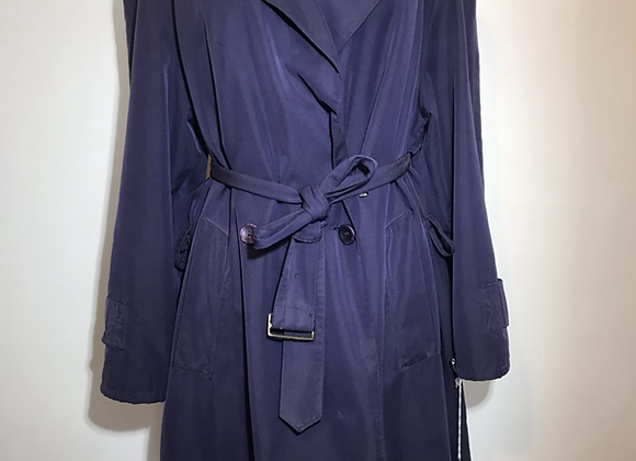 Blue/purple rain trench coat