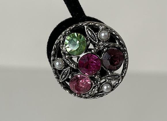 Silver basket clip on earrings