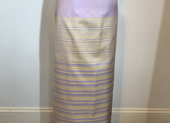 Violet gold horizontal stripe skirt