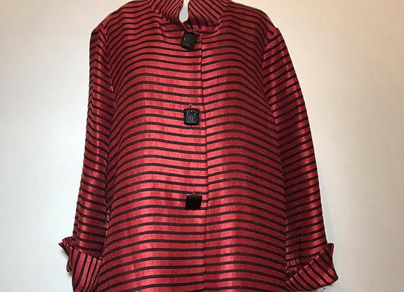 Cyrano red & black horizontal stripe jacket.