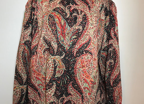 Red/Tan Paisley Top