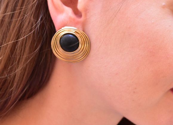 Goldtone wire circle pierced earrings