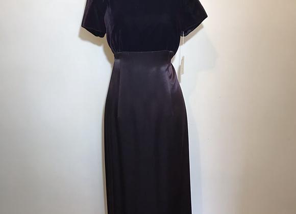 Niki purple velvet silk dress