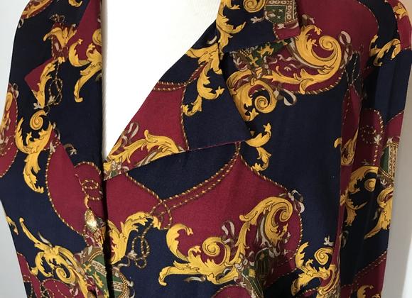 Bedford Fair blue/gold midi coat dress