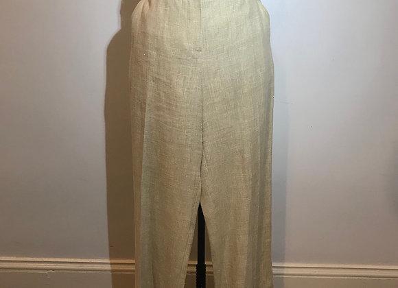 St. John Tan linen Pant