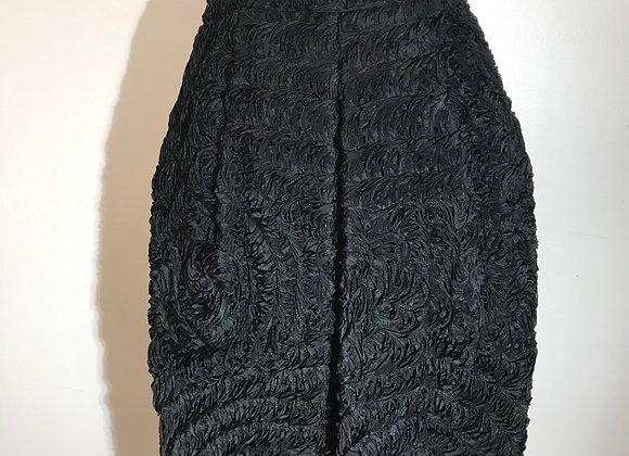 Donna Karan Black Ribbon Skirt