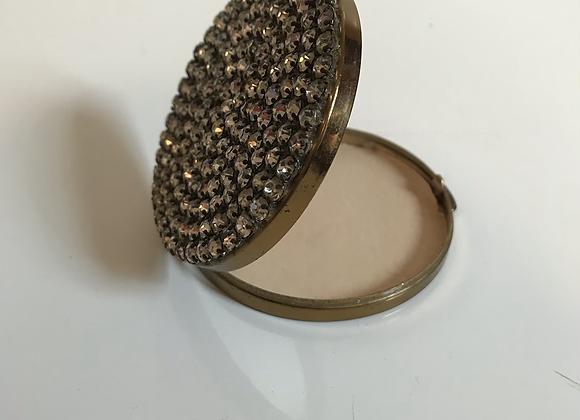 Vintage crystal compact