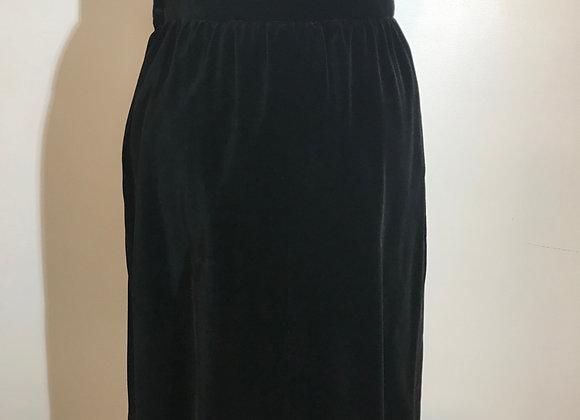 YSL black velvet skirt