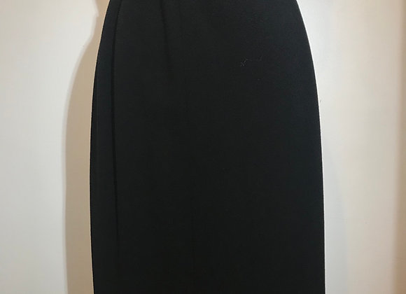 Chanel Black Wool Skirt