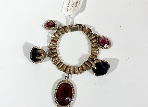 Amethyst faceted bracelet