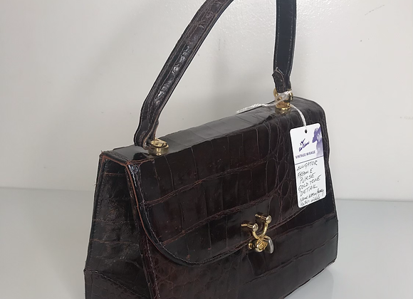 Brown frame purse