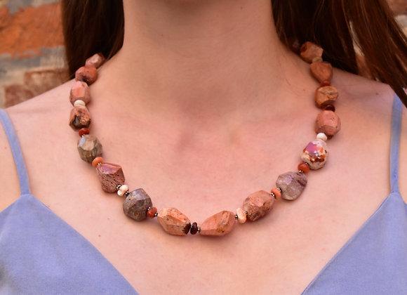 Boulder Opal Irregular bead necklace
