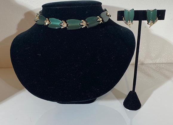 3pc black bead necklace set