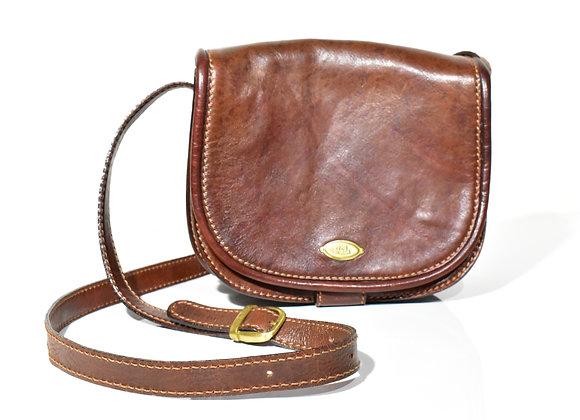 """The Bridge"" brown leather Saddle bag"