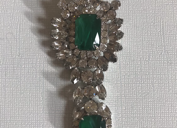 Green crystal pin