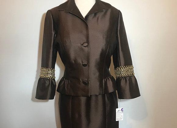 Jovani brown gold bead jacket