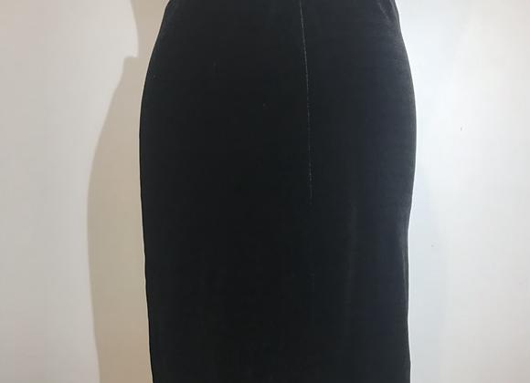 Donna Karan black velvet skirt