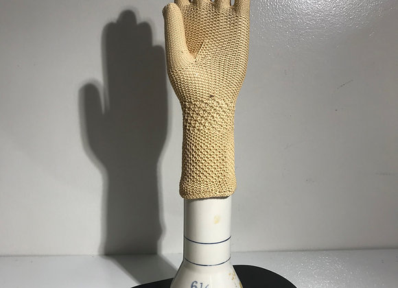 Tan Crochet Gloves