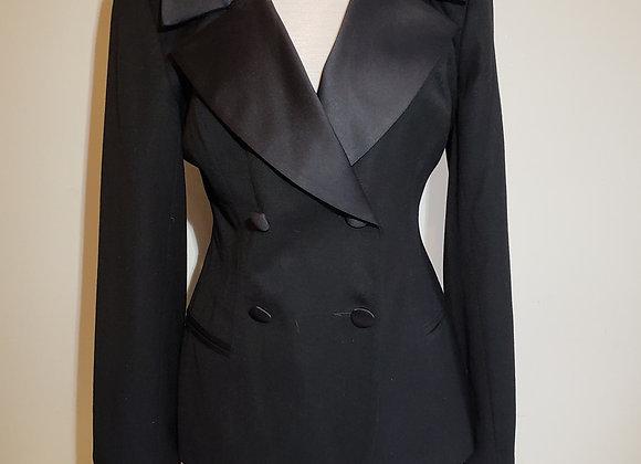 ABS black wool tuxedo jacket