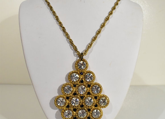 Goldtone Diamond Crystal Necklace