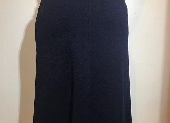 Designer navy Wool Aline Skirt