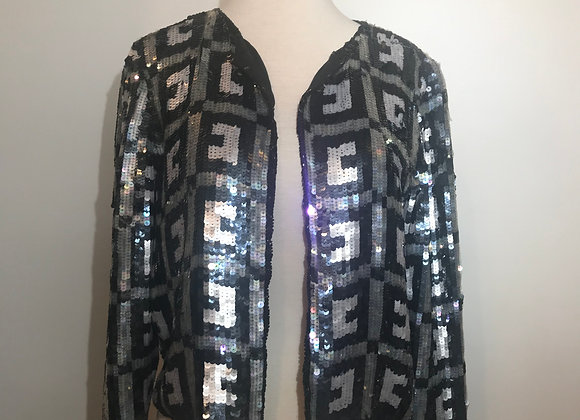 Stenay Black & Silver Sequin Jacket