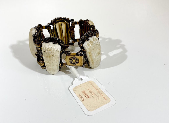 Cream AB sparkle bracelet