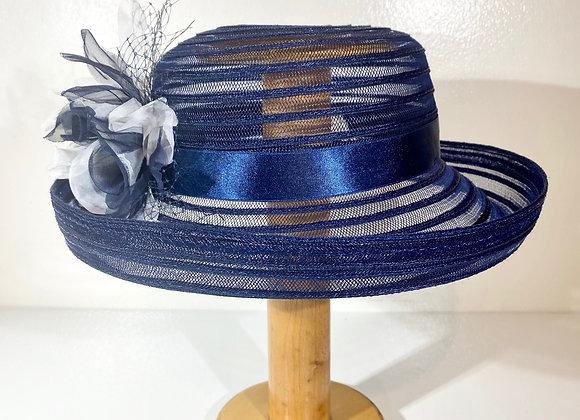 See thru Net Flower Hat