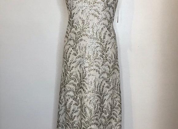 Metallic brocade dress