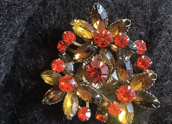 1940-50ss flower pin