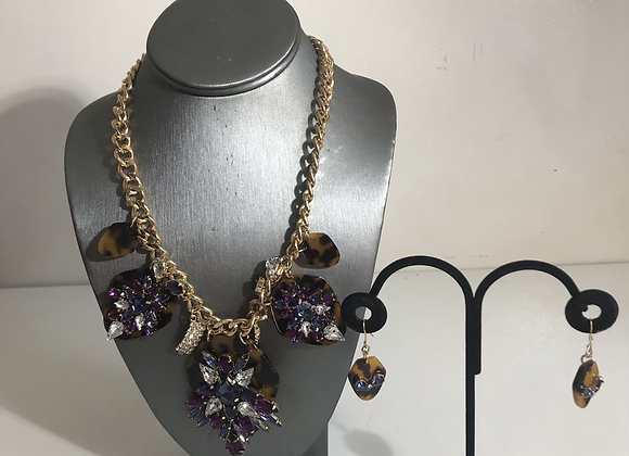 Purple crystal 3 pc set