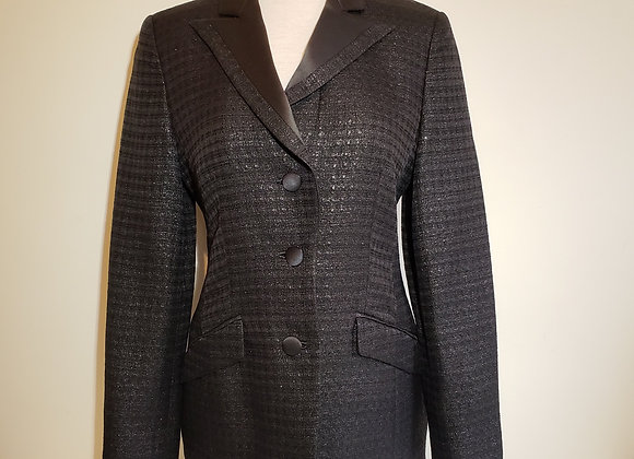 Louis Feraud metallic black jacket.