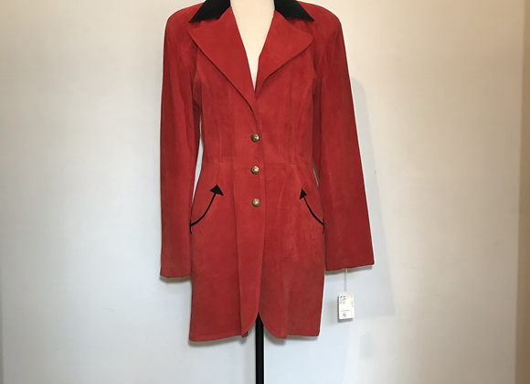 Frontier red black suede jacket