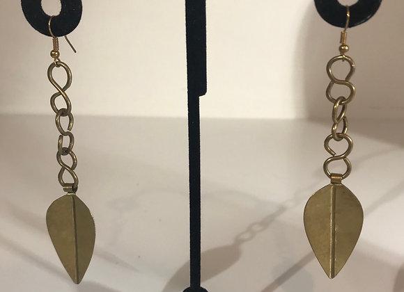 Harkiss leaf earrings