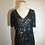 Thumbnail: Black V neck sequin top
