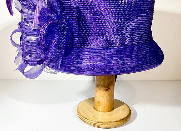 Purple Straw Top Hat