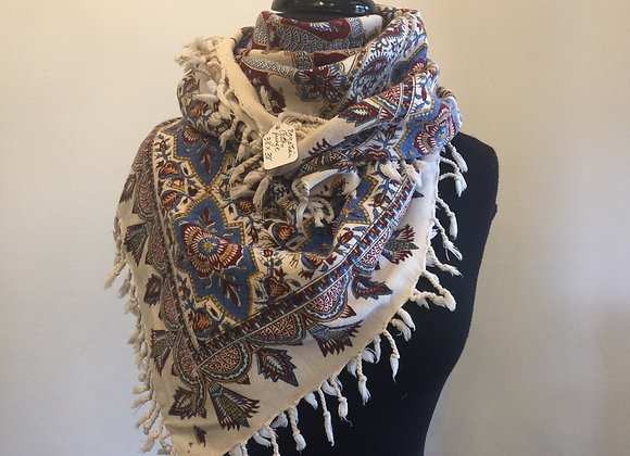 Hand Painted Egyptian Cotton Shawl