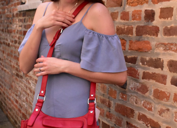 Carol Miller Red Hobo Crossbody