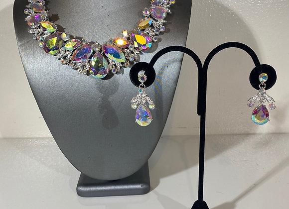 Aurora Borealis Choker & Earring Set
