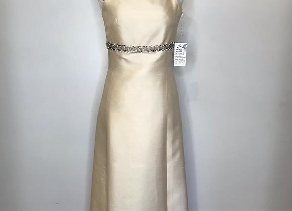 1960s raw silk creme dress