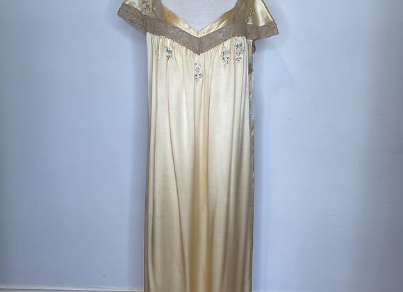 Yellow silk  negligee