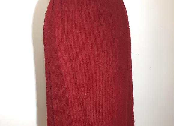 Yves Saint Laurent red Boucle skirt