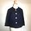 Thumbnail: Navy patterned wool bolero