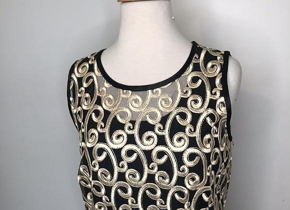 SAM black netting dress
