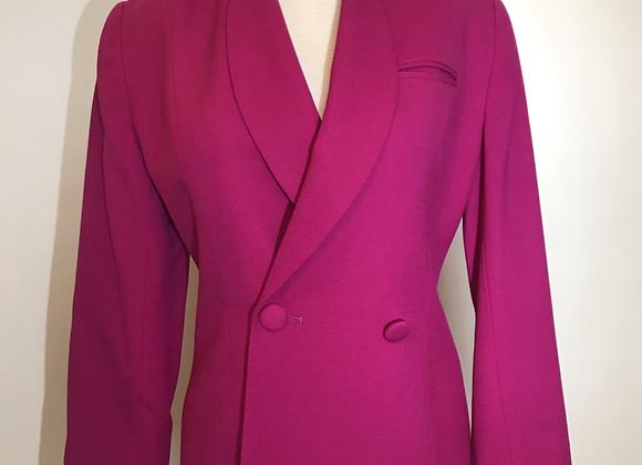 Saville Suit petite magenta wool jacket